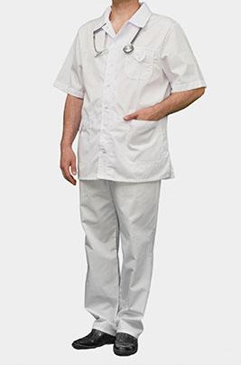 Мужской мед костюм К-203 БЕЛЫЙ, размер 60+